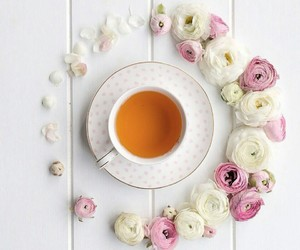 coffee, white, and flowers image