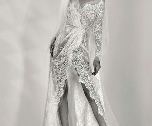 bride, elie saab, and wedding image