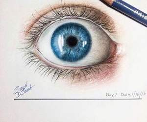 amazing, blue, and pencil image