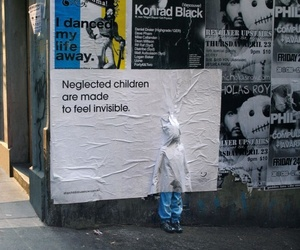 child, invisible, and art image