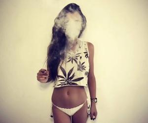bikini, girl, and weed image
