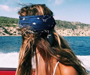 bandana, boating, and girls image