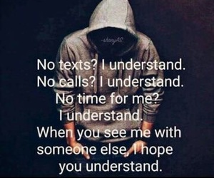 sad, understand, and text image