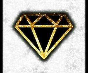 art, diamond, and gold image