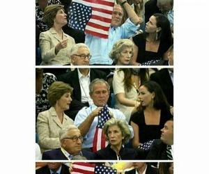 america, bush, and funny image