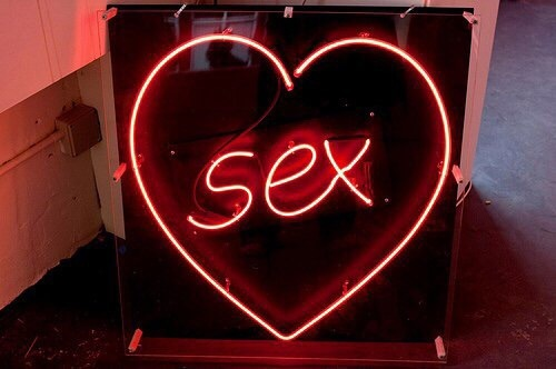 neon, sex, and neon red image