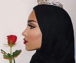 hijab and rose image