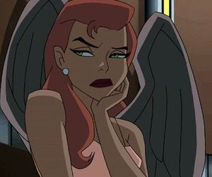 hawkgirl, cartoon, and gif image
