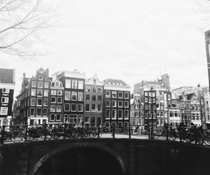 amsterdam, black and white, and canals image