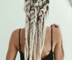 braids, cool, and summer image