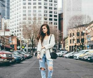city, fashion, and hair image