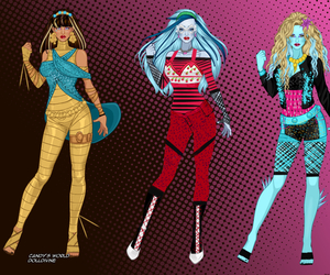 cleo, monster high, and lagoona. image