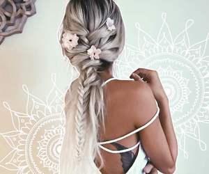 blonde, braid, and boho image