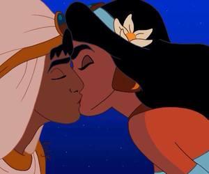 disney, kiss, and jasmine image