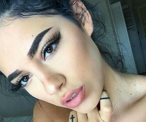 girls, baddie, and eyebrowns image