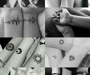 best friends, tattoo, and bff image