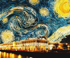 art, night, and vincent van gogh image