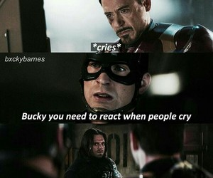 bucky, funny, and Marvel image