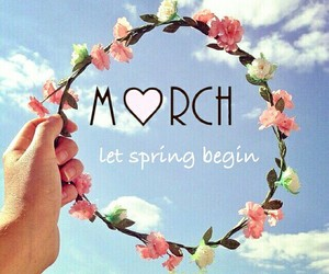 flowers, march, and spring image