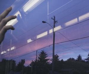 purple, sky, and grunge image