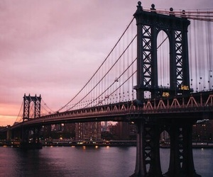 bridge, city, and sky image