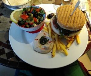 burger, falafel, and yummy image