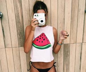 girl, FRUiTS, and summer image
