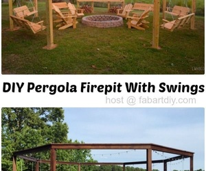 campfire, swings, and diy image