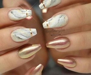 marble, nails, and polish image