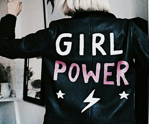 girl, feminism, and girl power image