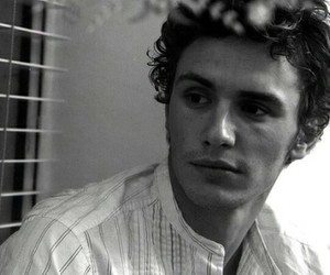 james franco, black and white, and handsome image