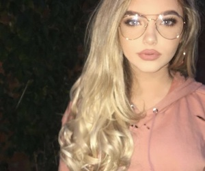 blondehair, blueeyes, and glasses image