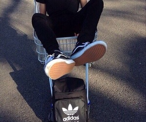 adidas, boy, and black image