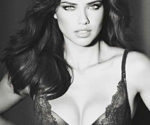 Adriana Lima, black and white, and victoria's secret model image