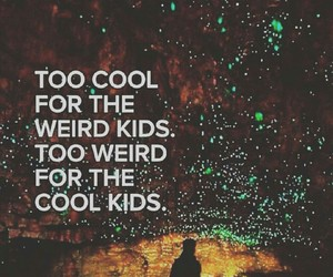 cool kids and weird kids image