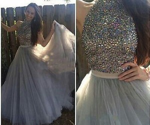 prom dresses, dress, and long prom dress image