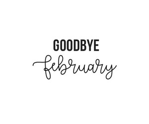 february, goodbye, and hello image
