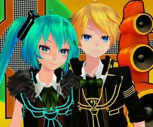 miku, vocaloid, and mikuxlen image