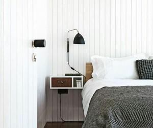 bed, minimal, and minimalist image