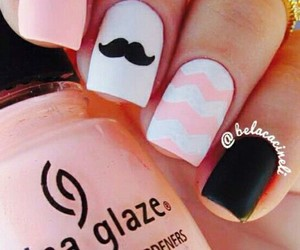 nails, moda, and mustache image