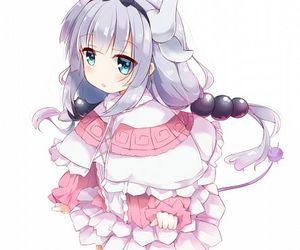anime, anime girl, and dragón image