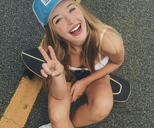 blonde, girl, and skate image