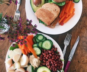 food, healthy, and vegan image