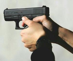 gun, photography, and black image