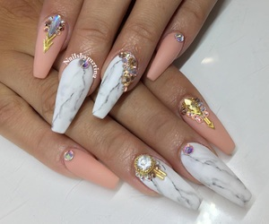 nails, marble, and diamond image