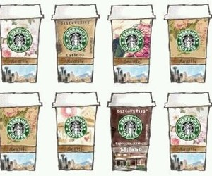 starbucks, coffee, and background image