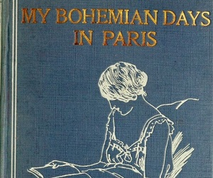 blue, bohemian, and book image