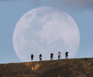 moon, photography, and tumblr image