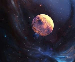 art, planets, and space image