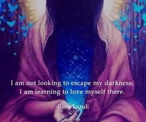 quote, love, and Darkness image